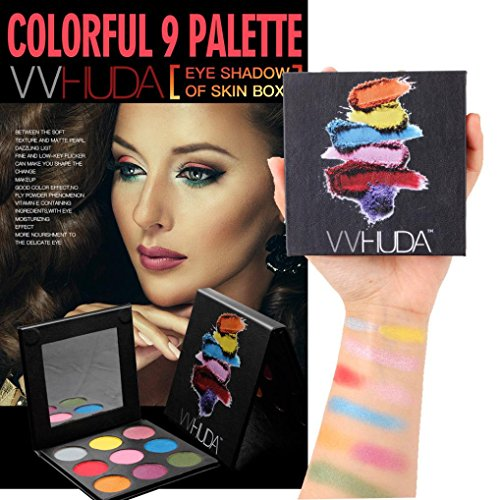 Waterproof Eyeshadow Palette HUDA 9 Colors Highly Pigmented