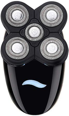 ZNDDB Multifuncional 5 en 1 Calvo afeitadora eléctrica recortador ...