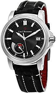 Carl F. Bucherer Patravi Automatic Steel Mens Strap Watch Power Reserve Indicator Date 00.10616.08.33.01