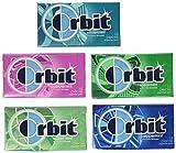 Wrigleys Orbit 20 Pack - 14 Piece Packages - Sugar Free Gum - Variety Box