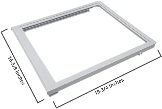 New OEM 240350903 Frigidaire Refrigerator Drawer Glass Cover WITH GLASS