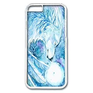iPhone 6 Plus Case,Fashion Durable Transparent Side DIY design for Apple iPhone 6 Plus(5.5 inch),PC material iPhone 6 Plus Cover ,Safeguard Phone from Damage ,Designed Specially Pattern with Tears of an Angel Wolf. by runtopwell