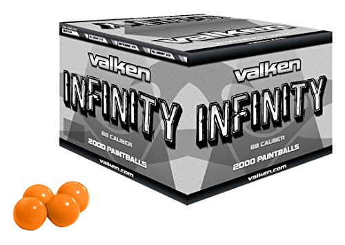 Valken Infinity Paintballs, Orange/Orange, .68 Caliber, 2,000 paintballs