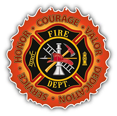 Valor Map - JJH Inc Firefighter Honor Courage Valor Vinyl Decal Sticker Waterproof Car Decal Bumper Sticker 5