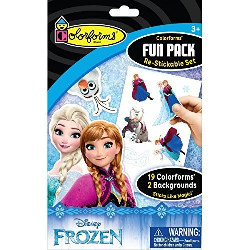 Disney Frozen Colorforms Fun Pack - Includes 19 Frozen Character Reusable Stickers and 2 Frozen Background Scenes