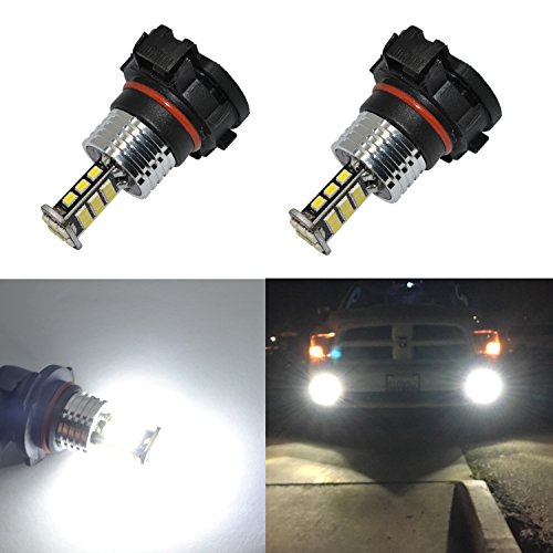 Alla Lighting 2000 Lumens Newest Version High Power 3020 30-SMD Super Extremely Bright 6000K White LED Bulb for Fog Light Bulbs Lamps Replacement (5202/5201)