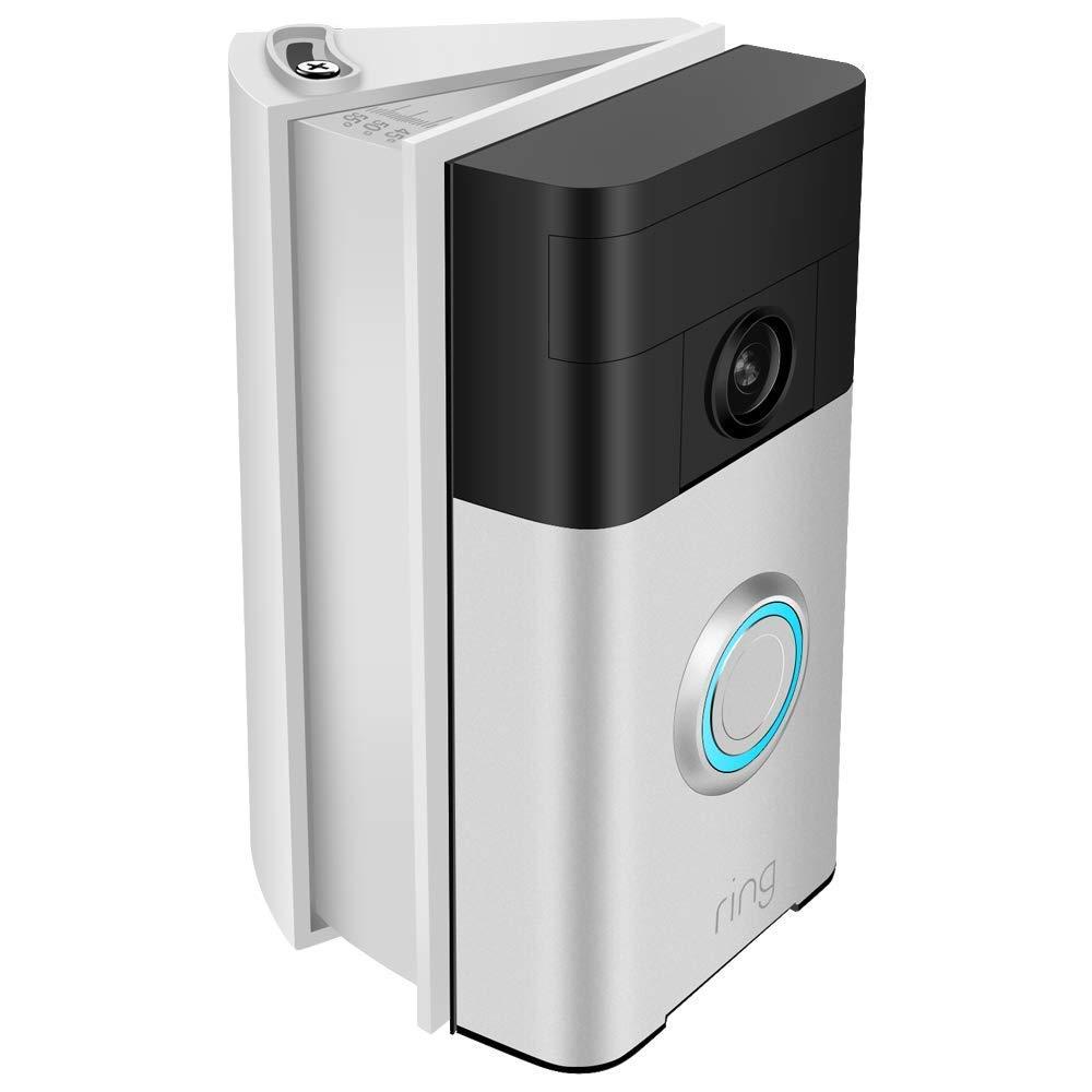 KIMILAR Dangle /Équerre de Montage R/églable for Ring Video Doorbell //2 Blanc