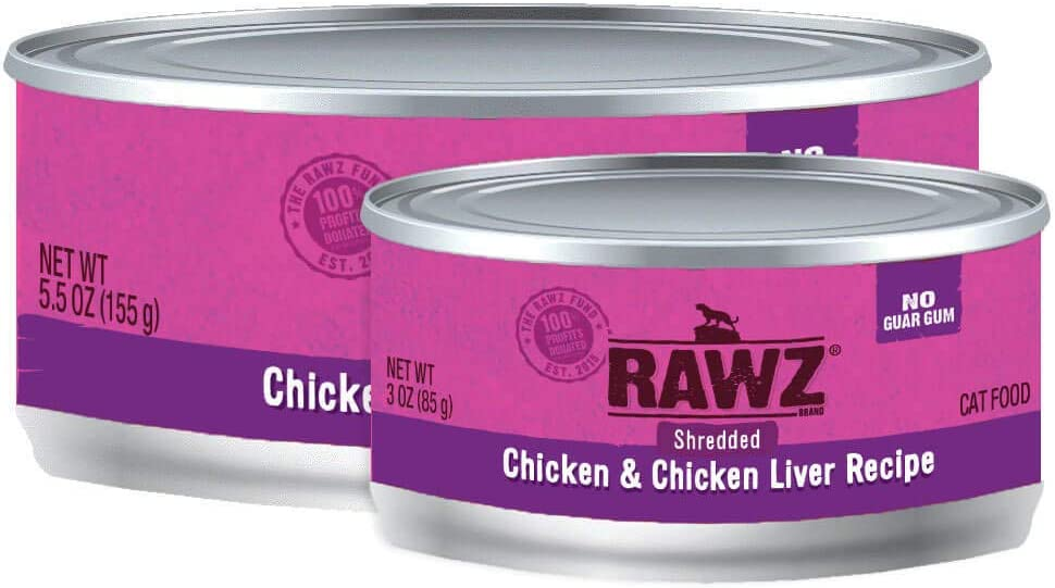 Rawz Shredded Meat Canned Cat Food (Chicken & Chicken Liver)