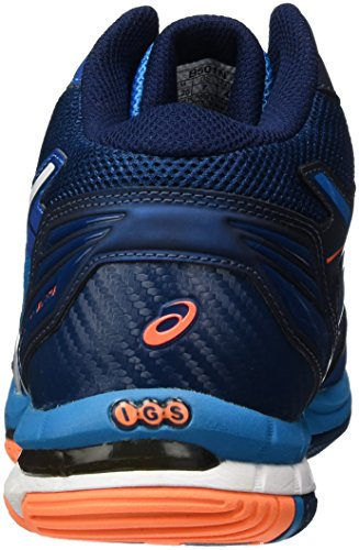 Asics Gel-Volley Elite 3 Mt, Zapatillas de Voleibol para Hombre Azul (Blue Jewel/white/hot Orange)