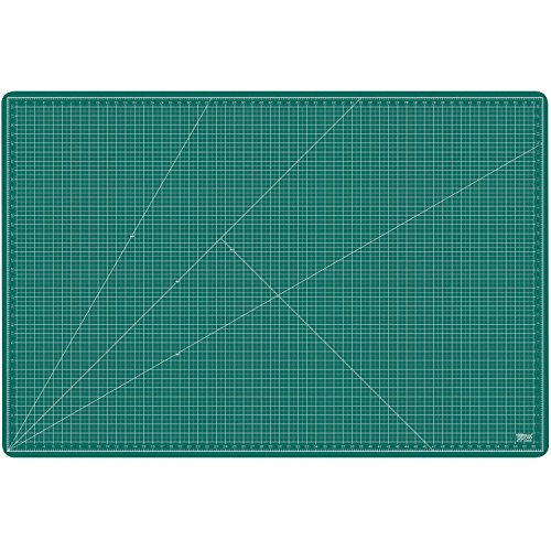 US Art Supply 40'' x 60'' GREEN/BLACK Professional Self Healing 5-Ply Double Sided Durable Non-Slip PVC Cutting Mat Great for Scrapbooking, Quilting, Sewing and all Arts & Crafts Projects (Choose Green/Black or Pink/Blue Below) by US Art Supply