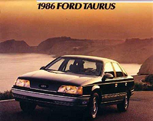 - 1986 Ford Taurus Sales Brochure Literature Book Piece Dealer Advertisement