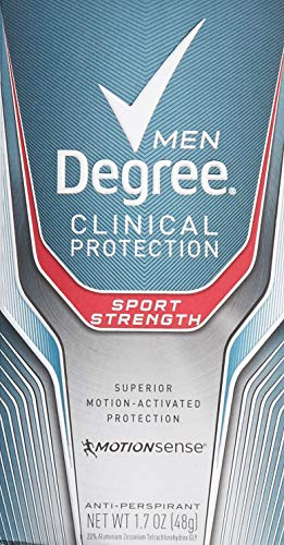 Degree Men Clinical Protection Sport Strength Antiperspirant & Deodorant, 1.7 Ounce, Pack of 3 (Degree Clinical Protection Men)