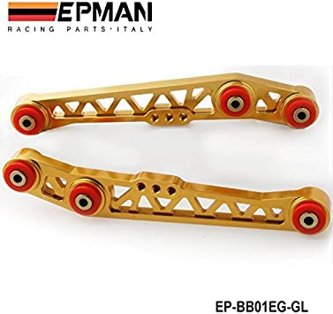 NEW RED LOWER CONTROL ARM SUSPENSION REAR CAMBER KIT CIVIC 88-95 INTEGRA 90-01