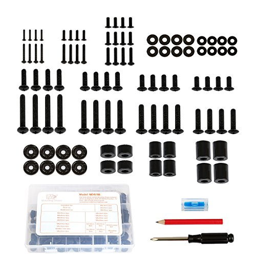 Mounting Dream Universal TV Mounting Hardware Pack 99pcs Fits All TVs up to 80 inches with Screwdriver, Pencil, Bubble Level, M4, M5, M6, M8 TV Screws Bolts Spacers and Washers Assortment Kit MD5756