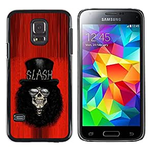 Shell-Star Arte & diseño plástico duro Fundas Cover Cubre Hard Case Cover para Samsung Galaxy S5 Mini / Samsung Galaxy S5 Mini Duos / SM-G800 !!!NOT S5 REGULAR! ( Rock Guitar Player Red Top Hat Famous )