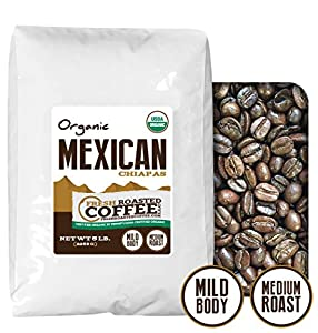 Mexican Chiapas Organic Coffee, Whole Bean, Fresh Roasted Coffee LLC