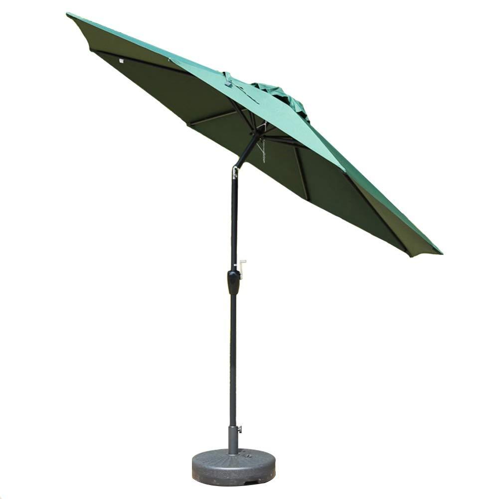 パラソル 9 '屋外パティオガーデンテーブルパラソルW/チルト調整、屋外用、ビーチコマーシャルイベントマーケット、キャンプ、プールサイド、ダークグリーン (Color : Dark green, Size : 9ft/270cm) B07T3TL1BT Dark green 9ft/270cm