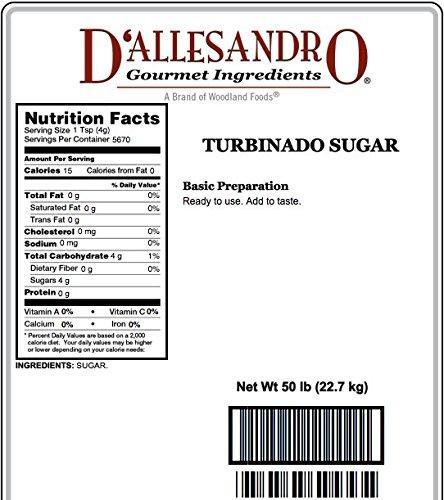 Turbinado Sugar, 50 Lb Bag by Woodland Ingredients