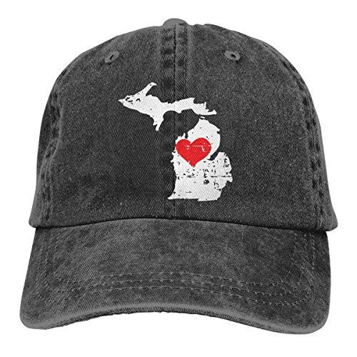 nisex Cowboy Hat Baseball Caps Vintage Adjustable Trucker Hats for Mens Womens Black ()