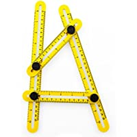 Angle-Izer Template Tool | Multi Angle Measuring Ruler for Carpenter, Handyman, Builder | Angle Measuring Tool for Cutting Tile | Angleizer DIY Tool for Home and Pro Projects by Woodruff Industries