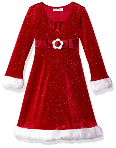 Bonnie Jean Girls' Little Holiday Dresses, red Buckley, 6