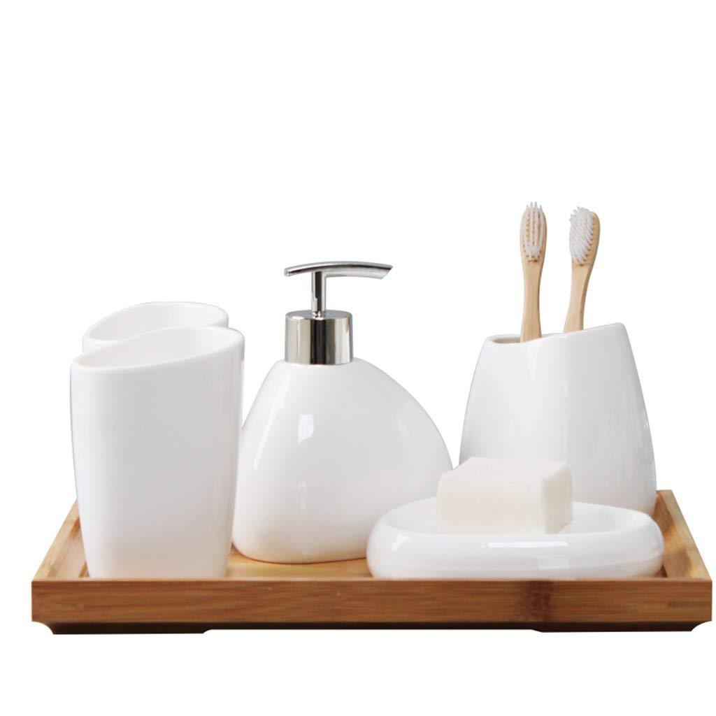 Tian Creative European Style Cup Five-Piece Bathroom Set Ceramic Toothbrush Holder Bathroom Wash Set