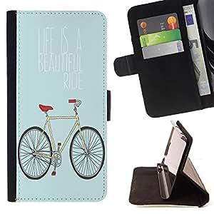 Dragon Case- Caja de la carpeta del caso en folio de cuero del tirš®n de la cubierta protectora Shell FOR Samsung Galaxy S3 MINI I8190- Bicycle Retro
