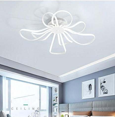 Lámpara LED plafón Elegant Blanco Flores y Hojas Diseño ...