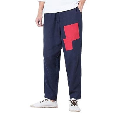 Pantalones De Mezclilla Sueltos Hombres para De Pantalones Harén ...