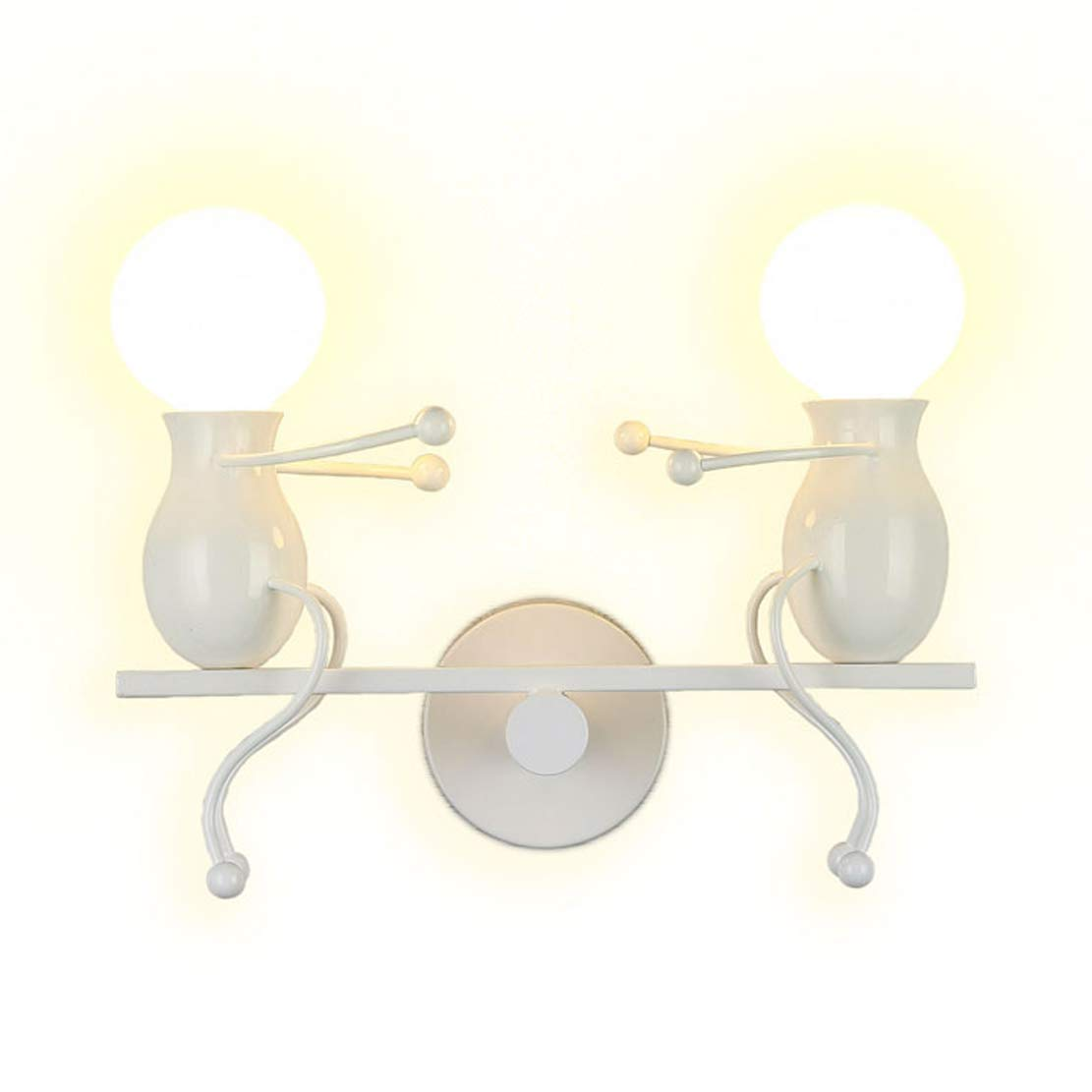 Southpo led wall light fixtures childhood seesaw double little people wall lamps bedroom modern creative decor doll bedside lamp gift children cartoon