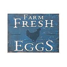 "Barnyard Designs Farm Fresh Eggs Retro Vintage Wood Plaque Bar Sign Country Home Decor 15.75"" x 11.75"""