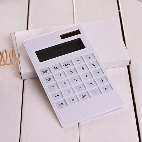 Mini Digital Calculator Solar Energy Portable Lightweight, Durable Plastic Keys Crystal Keyboard Using Handheld Multi-function