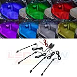 LEDGlow 4-Piece 7 Color LED Interior Underdash Lighting Kit