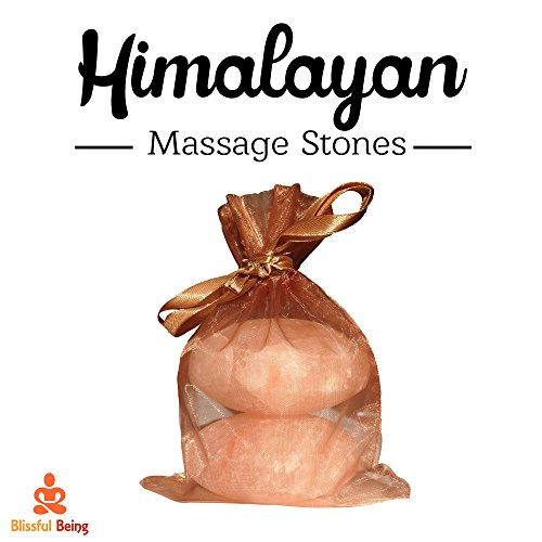 Pink Himalayan Salt Massage Stones by Blissful Being - Himalayan Stone Massage