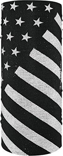- ZANheadgear T091 Motley Tube, 100% Polyester, Black & White Flag