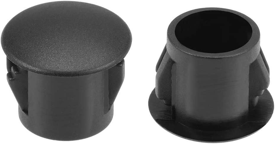 uxcell Hole Plugs Black Plastic 10mm(3/8-inch) Snap in Locking Hole Tube(9.5-10mm) Steel Furniture Fencing Post Pipe Insert End Caps for Fitness Equipment 100 Pcs
