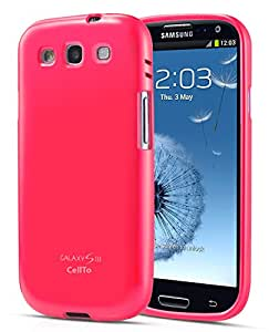 Samsung Galaxy S3 Case, Cellto TPU [Premium Soft Flexible Case] Crystal Silicone Cover Sleeve [Lifetime Warranty] For GS3 (Released 2012) - Hot Pink