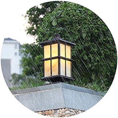 YAYADU Luces De Jardín Led, Exterior Impermeables Decorativas Sendero Luces De Jardín, Luces Luz De Entrada De Seguridad Automática for Patio De Césped, Pasarela (Color : Brown-28x56cm): Amazon.es: Hogar