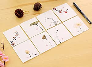Liitrton 16 PCS Classical Chinese Greeting Cards Fold Birthday,Christmas,Thanksgiving Note Cards with Envelope