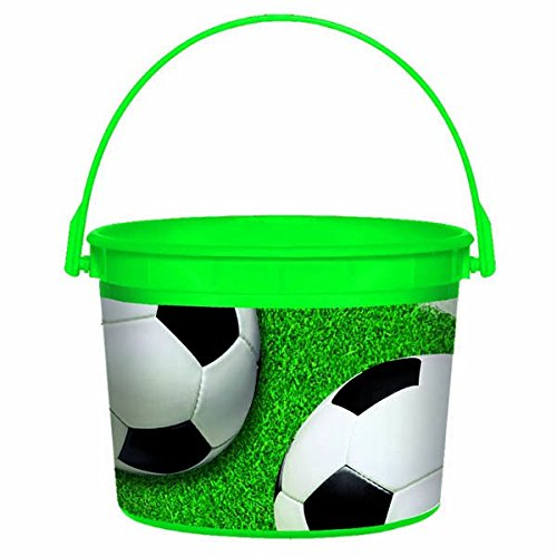 Amscan Soccer Plastic Bucket, Party Favor