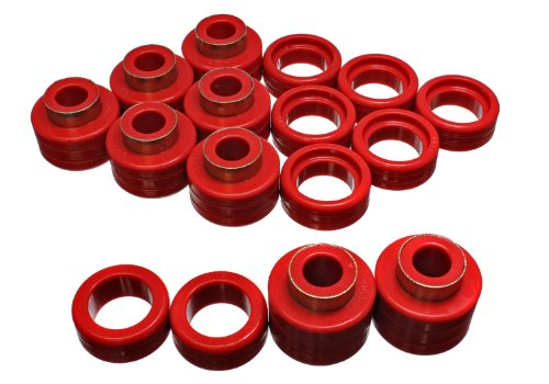 Energy Suspension 3.4122R Control Arm Bushing 2WD and 4WD Body Mount for Chevy Xtra (2wd Old Body)