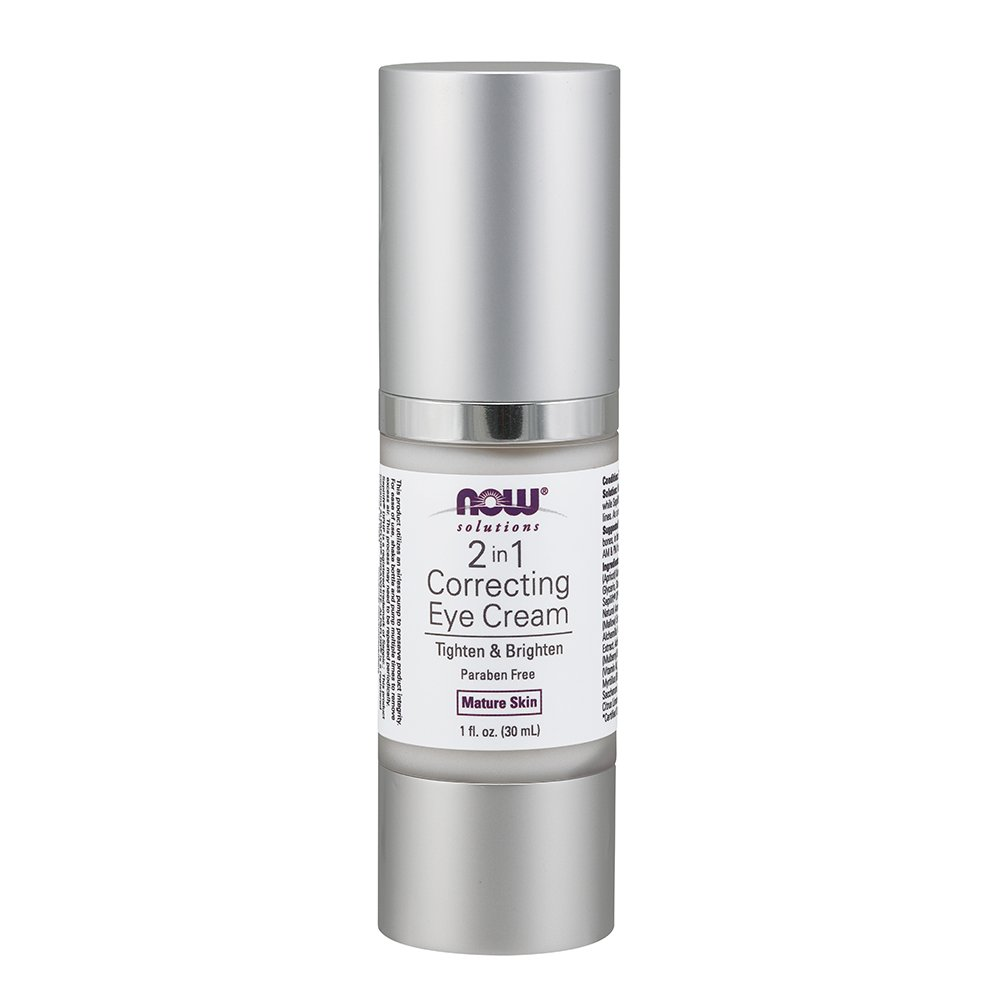 2 in 1 Correcting Eye Cream For Mature Skin - 1 oz. by NOW Foods (pack of 1) ITS SKIN Macaron Lip Balm #04 Pineapple
