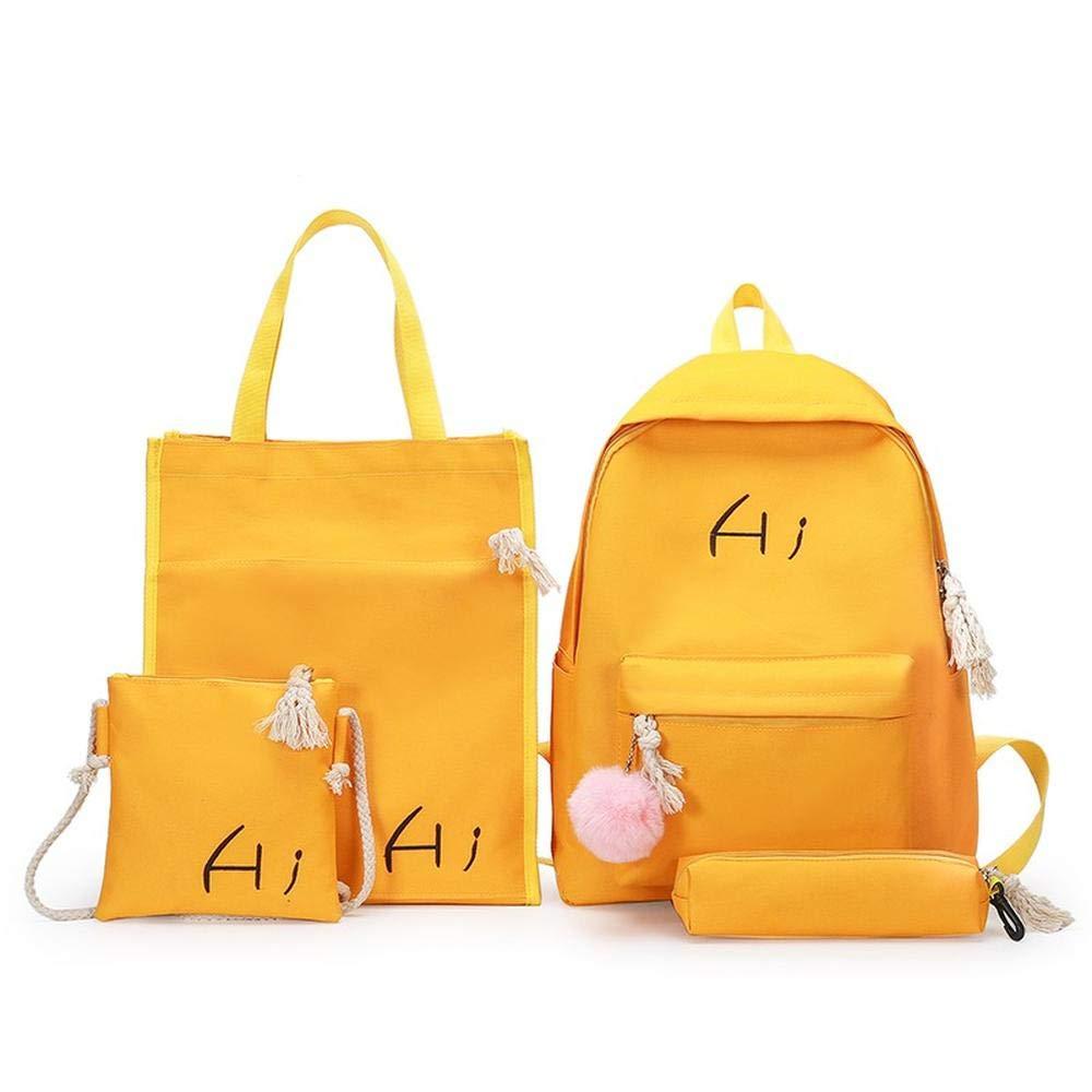 Yellow CYCY South Korea ulzzang school bag female shoulder bag canvas high school junior high school student male backpack cute fresh tide black