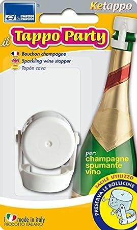 Parodi&Parodi Spumante y Champagne, Botellas de Cristal, Vino, Bebidas gaseosas, tapón con Cierre hermético para la conservación de Drink frizzanti Art.463, Blanco, único
