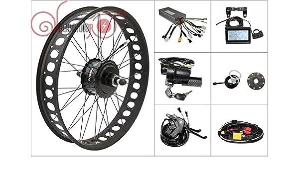 Amazon Com Hallomotor Threaded 20 Inch Rear Wheel Ebike Conversion Kit 48v 750w 175mm 8fun Bafang Fat Tire Sports Outdoors
