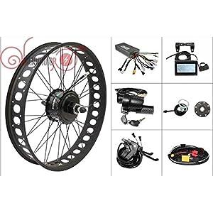 48V 750W 8Fun Bafang Freehub Cassette Fat Tire 20 inch Rear Wheel Electric Bicycle Conversion Kit 175mm Ebike