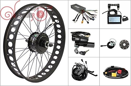 48V 750W 8Fun Bafang Freehub Cassette Fat Tire 20 inch Rear Wheel Electric Bicycle Conversion Kit 175mm Ebike
