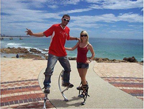 519qKtVpQiL - Adult Kangaroo Shoes Jumping Stilts Fitness Exercise (200-242lbs/90~110kg) Bouncing shoes (black)