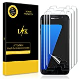LK [3 Pack] Screen Protector for Samsung Galaxy S7 Edge, [New Version] [Max Coverage] [Bubble-Free] HD Clear Flexible Film with Lifetime Replacement Warranty