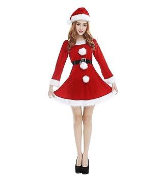 08522be9f02b3 WanYang Damen Outfit Rot Lange Ärmel Weihnachtsfrau Kostüm Sexy ...